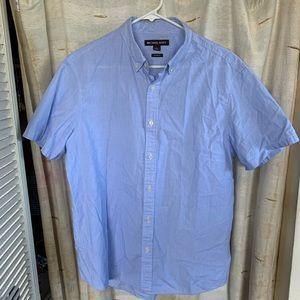 Michael Kors Shirts - Michael Kors Regular Fit Blue Striped Short Sleeve